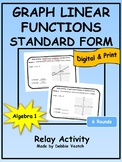 Graph Linear Functions In Standard Form Relay Activity