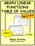 Graph Linear Functions Using Table of Values Relay | Digit