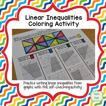 Graph Linear Inequalities Coloring Activity By Math Dyal Tpt