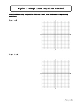 Graph Linear Inequalities on the Coordinate Plane (Lesson Plan with Homework)