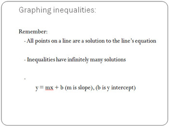 Graph Linear Inequalities in Two Variables