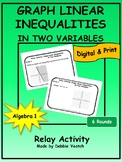 Graph Linear Inequalities in Two Variables Relay Activity