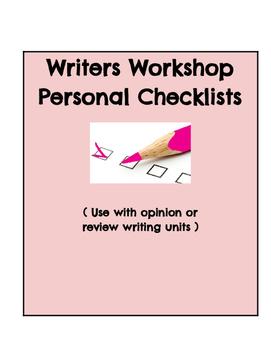 Writers Workshop Checklist