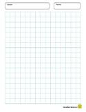 Graph Paper 0.5 x 0.5 inch Blue