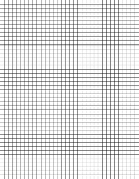 Graph Paper 1/4 inch