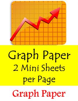 Graph Paper - 2 Mini Sheets per page