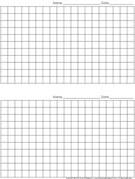Graph Paper: 2 Per Page Grid - 1 centimeter squares - 19x11 boxes - King Virtue
