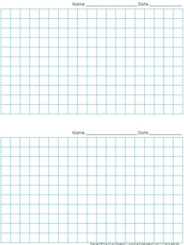 Graph Paper: 2 Per Page Grid - 1 centimeter squares - 19x1