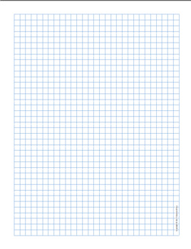 Graph Paper .25 inch Blue Dot