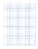 Graph Paper .25 inch Blue Dot Heavy Index Lines