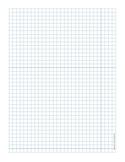 Graph Paper .25 inch Blue Line