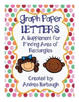 Graph Paper Alphabet Letters A-Z
