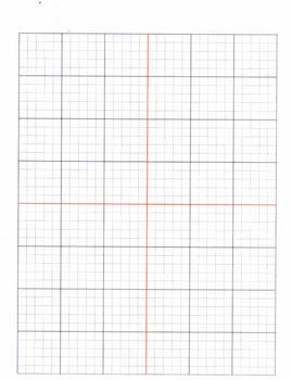 Graph Paper (Axis lines are in red which make it stand out)