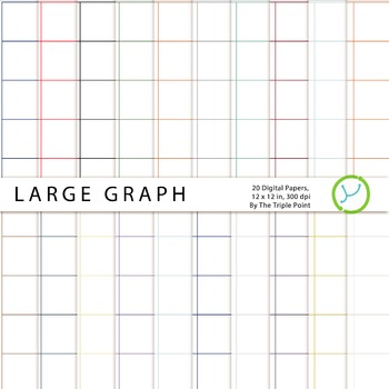 Large Graph Paper Background: 20 Digital Papers