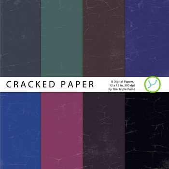 Cracked Paper Background: 8 Digital Papers