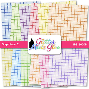 Graph Paper {Scrapbook Backgrounds for Algebra & Geometry Math Activities} 2