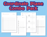 Graph Paper - Coordinate Plane Combo Pack