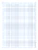 Graph Paper Five Lines Per Inch Blue Dot