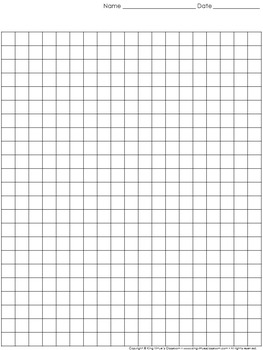 Graph Paper: Full Page Grid - 1 centimeter squares - 19x23 boxes - King Virtue