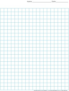 Graph Paper: Full Page Grid - 1 centimeter squares - 19x23