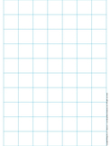 Graph Paper: Full Page Grid - 1 inch squares - 7x10 boxes - no name line
