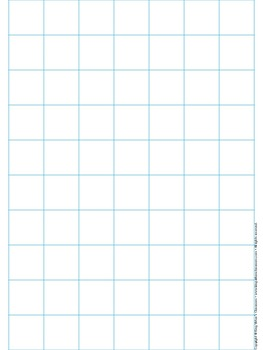 Graph Paper: Full Page Grid   1 Inch Squares   7x10 Boxes   No Name Line