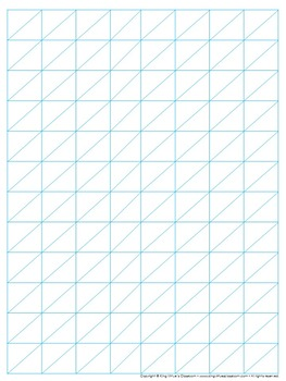 Graph Paper: Full Page Grid - Lattice Multiplication - 8x1