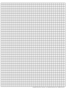 Graph Paper: Full Page Grid - half centimeter squares - 31x46 boxes no name line