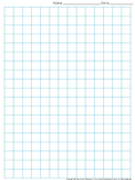 Graph Paper: Full Page Grid - half inch squares - 14x19 boxes - King Virtue