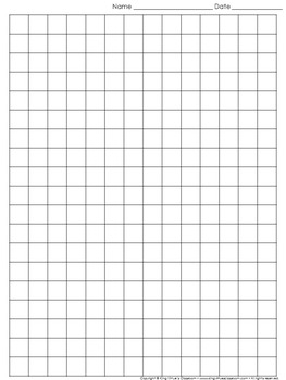 1 Inch Graph Paper | Graph Paper Full Page Grid Half Inch Squares 14x19 Boxes King