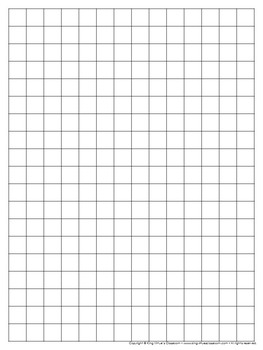 Graph Paper: Full Page Grid - half inch squares - 14x19 boxes - no name line