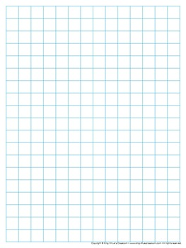 Graph Paper: Full Page Grid - half inch squares - 14x19 bo