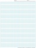Graph Paper: Full Page Grid - quarter inch squares - 29x38 boxes - King Virtue
