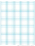 Graph Paper: Full Page Grid - quarter inch squares - 29x38 boxes - no name line