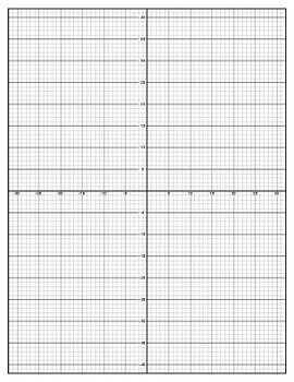 Graph Paper | Full Page Portrait Design for Student Projects