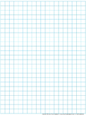Graph Paper: Full Page Grid - 1 centimeter squares - 19x25 boxes - no name line