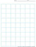 Graph Paper: Full Page Grid - 1 inch squares - 7x9 boxes -