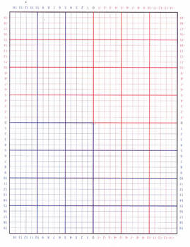 Graph Paper (Positive lines are black and negative lines are in red)