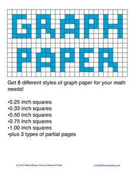 graph paper templates 8 different sizes and styles of graph paper