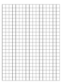 Graph Paper - Two Sided - 17 x 22 - Great for Math