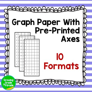 Graph Paper With Pre-Printed Axes