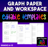 Graph Paper and Work Space Handout and Editable Template | Distance Learning