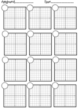 Graph Paper for Assignments