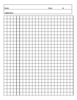 graph paper for math homework by create share teach tpt