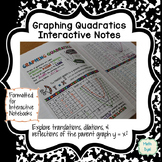 Graph Quadratic Equations Interactive Notes