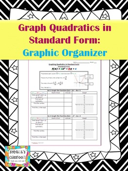 Graph Quadratic Functions in Standard Form - Graphic Organizer