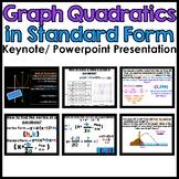 Graph Quadratics in Standard Form Powerpoint/Keynote