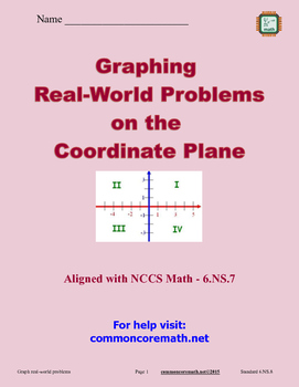 Graph Real-World Problems on Coordinate Plane - 6.NS.8