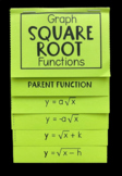 Graph Square Root Functions (Foldable)