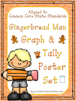 Graph & Tally Poster Set: Gingerbread Man